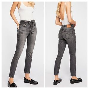 Levi's 501 Skinny High Rise Jeans in Coal